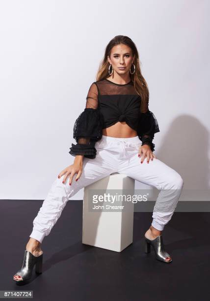 Recording artist Kassi Ashton poses in the portrait studio at the 2017 CMT Next Women Of Country Celebration at City Winery Nashville on November 7...