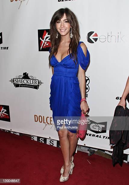 Recording Artist Kate Voegele arrives at the X-Games kickoff extravaganza party at The SupperClub Los Angeles on July 28, 2011 in Los Angeles,...