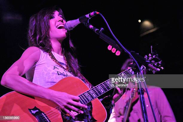 Recording artist Kate Voegele performs at Irving Plaza on June 10 2011 in New York City
