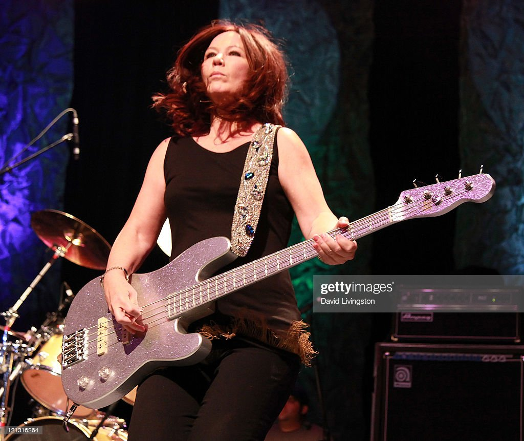Recording Artist Kathy Valentine Of The Go Gou0027s Performs On Stage At The  Greek Theatre