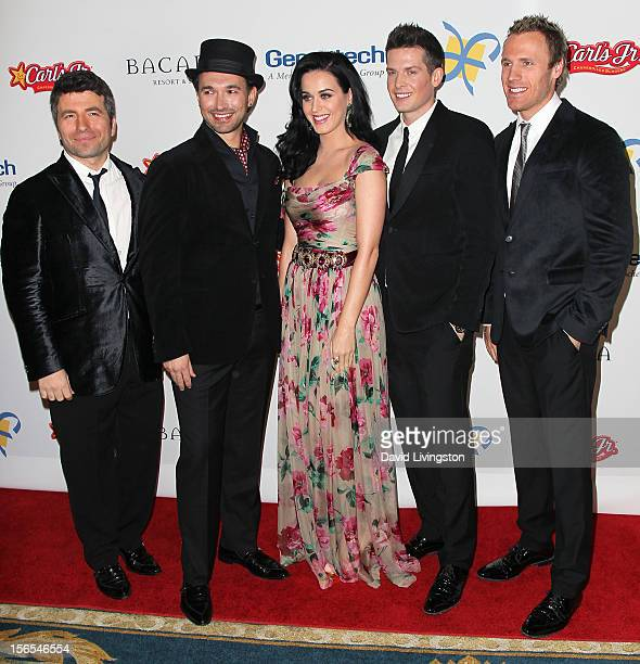 Recording artist Katy Perry and The Tenors attend the Dream Foundation's 11th Annual Celebration of Dreams at Bacara Resport and Spa on November 16...