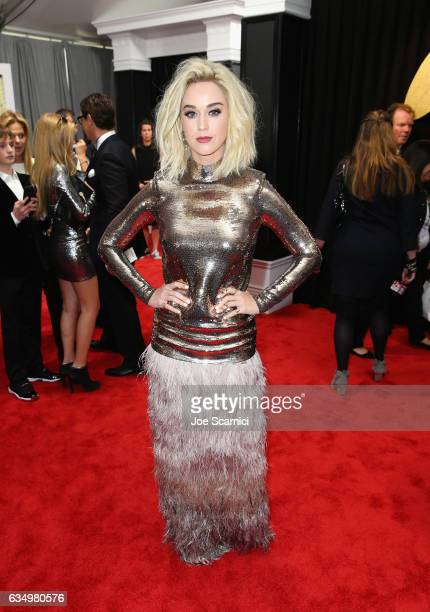 Recording artist Katy Perry at The 59th Annual GRAMMY Awards at STAPLES Center on February 12 2017 in Los Angeles California