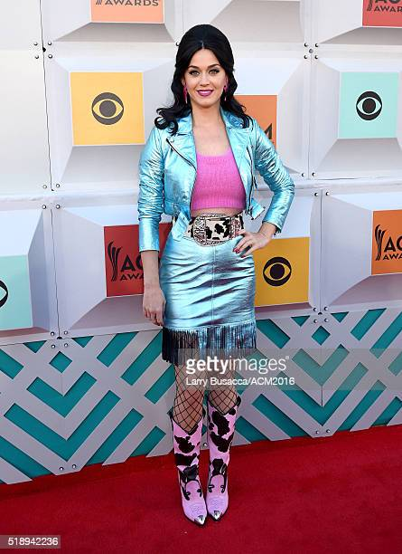 Recording artist Katy Perry attends the 51st Academy of Country Music Awards at MGM Grand Garden Arena on April 3 2016 in Las Vegas Nevada