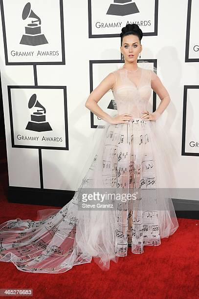 Recording artist Katy Perry attends the 56th GRAMMY Awards at Staples Center on January 26 2014 in Los Angeles California