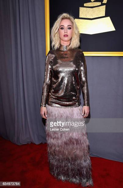 Recording artist Katy Perry attends The 59th GRAMMY Awards at STAPLES Center on February 12 2017 in Los Angeles California