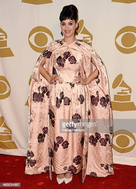 Recording artist Katy Perry attends The Night That Changed America A GRAMMY Salute To The Beatles at the Los Angeles Convention Center on January 27...