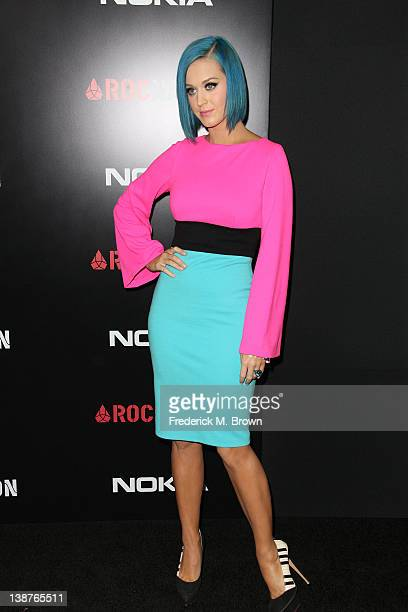 Recording artist Katy Perry attends the Roc Nation PreGRAMMY Brunch at the Soho House on February 11 2012 in West Hollywood California
