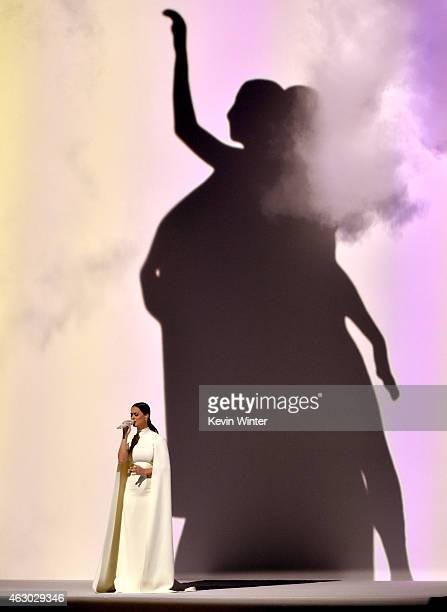 Recording artist Katy Perry performs onstage during The 57th Annual GRAMMY Awards at the STAPLES Center on February 8 2015 in Los Angeles California