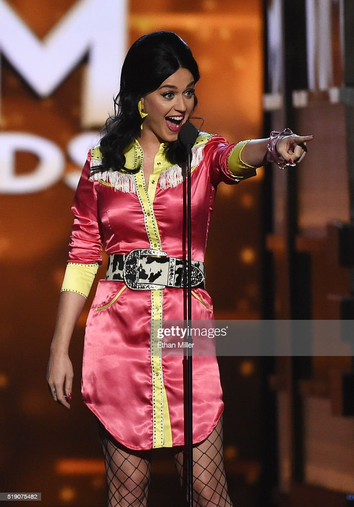 Recording artist Katy Perry speaks during the 51st Academy of Country Music Awards at MGM Grand Garden Arena on April 3, 2016 in Las Vegas, Nevada.