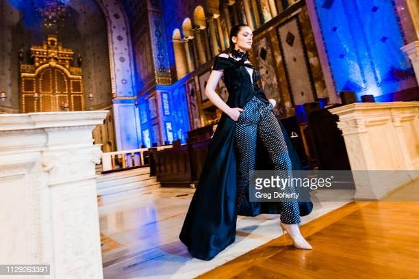 Recording Artist Katya Lava AKA Sev3N walks the runway at Sanctuary Fashion Week on March 7 2019 in Los Angeles California