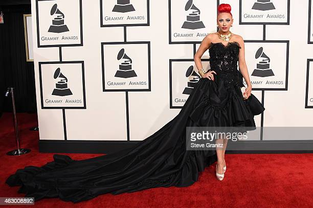 Recording artist Kaya Jones attends The 57th Annual GRAMMY Awards at the STAPLES Center on February 8 2015 in Los Angeles California
