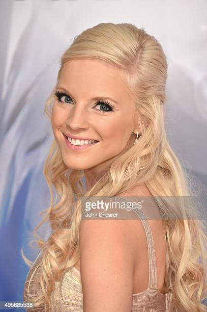 Recording artist Kayla Adams attends the 49th annual CMA Awards at the Bridgestone Arena on November 4 2015 in Nashville Tennessee