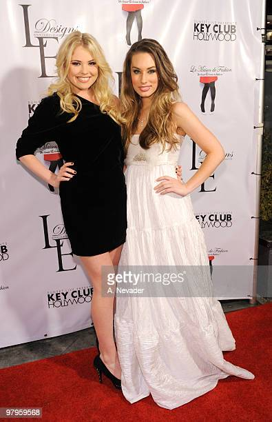 Recording artist Kayslee Collins and Lauren Elaine attend LA Rocks Fashion Week Lauren Elaine Fall 2010 Black Label at the Key Club on March 22 2010...