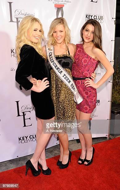 Recording artist Kayslee Collins Miss California Teen USA Emma Baker and Kiersten BradaPitts attend LA Rocks Fashion Week Lauren Elaine Fall 2010...