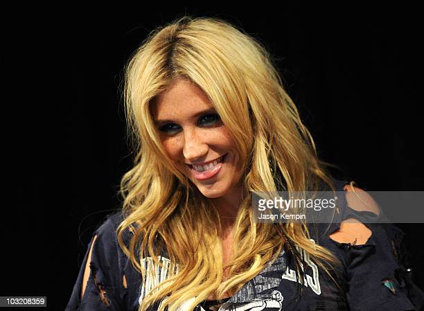 Recording artist Ke$ha attends the Casio Shock the World event at The Manhattan Center on August 2 2010 in New York City