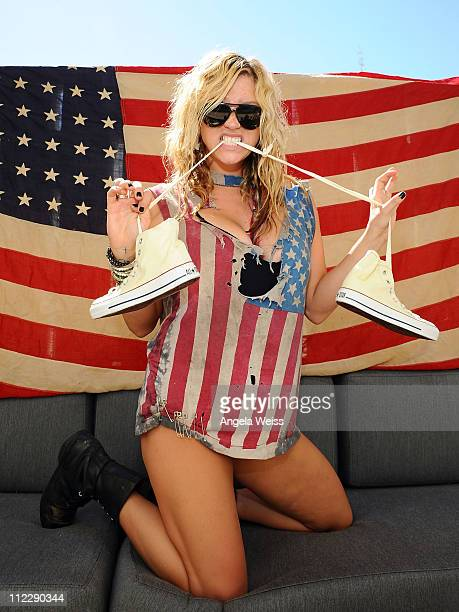 Recording artist Ke$ha attends the Converse Lounge at Ace Hotel on April 17, 2011 in Palm Springs, California.
