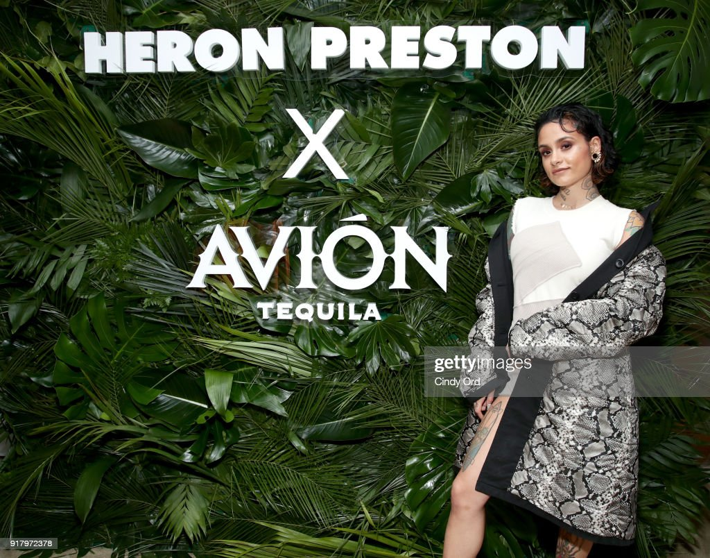 Recording artist Kehlani attends the Heron Preston + Tequila Avion Dance Party in Celebration Of Heron Preston 'Public Figure' at Public Arts on February 13, 2018 in New York City.