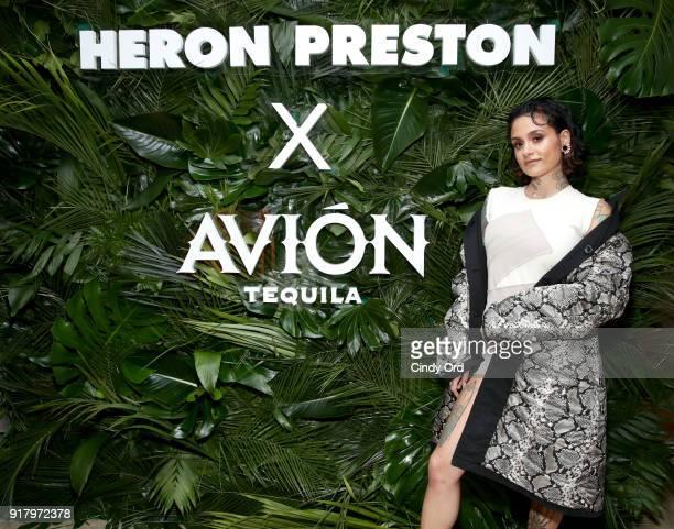 Recording artist Kehlani attends the Heron Preston Tequila Avion Dance Party in Celebration Of Heron Preston 'Public Figure' at Public Arts on...