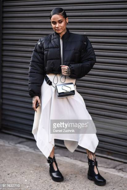 Recording artist Kehlani is seen outside the 31 Phillip Lim show during New York Fashion Week Women's A/W 2018 on February 12 2018 in New York City