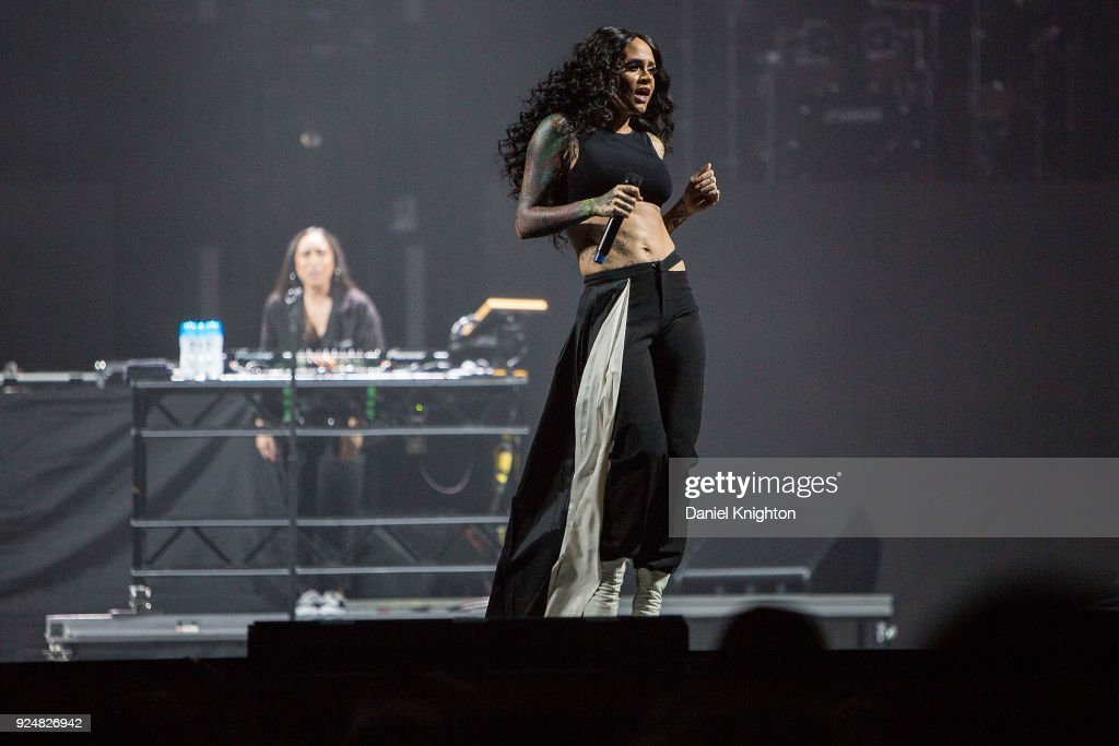 Recording Artist Kehlani Performs On Stage In Support Of Demi Lovato At Viejas Arena On February