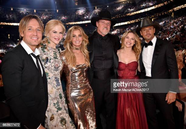 Recording artist Keith Urban actor Nicole Kidman recording artist Faith Hill singer Trace Adkins actor Victoria Pratt and recording artist Tim Mcgraw...