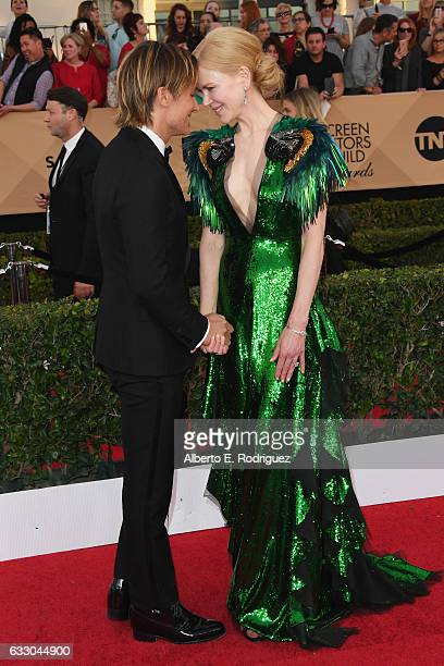 Recording artist Keith Urban and actress Nicole Kidman attend the 23rd Annual Screen Actors Guild Awards at The Shrine Expo Hall on January 29 2017...