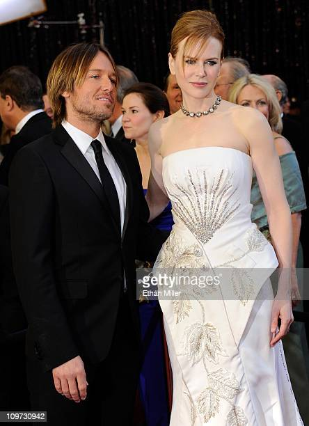 Recording artist Keith Urban and his wife actress Nicole Kidman arrive at the 83rd Annual Academy Awards at the Kodak Theatre February 27 2011 in...