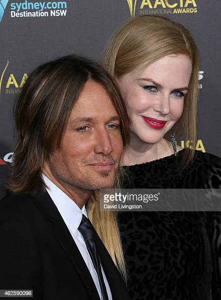 Recording artist Keith Urban and wife Nicole Kidman attend the 2015 G'Day USA Gala featuring the AACTA International Awards presented by QANTAS at...