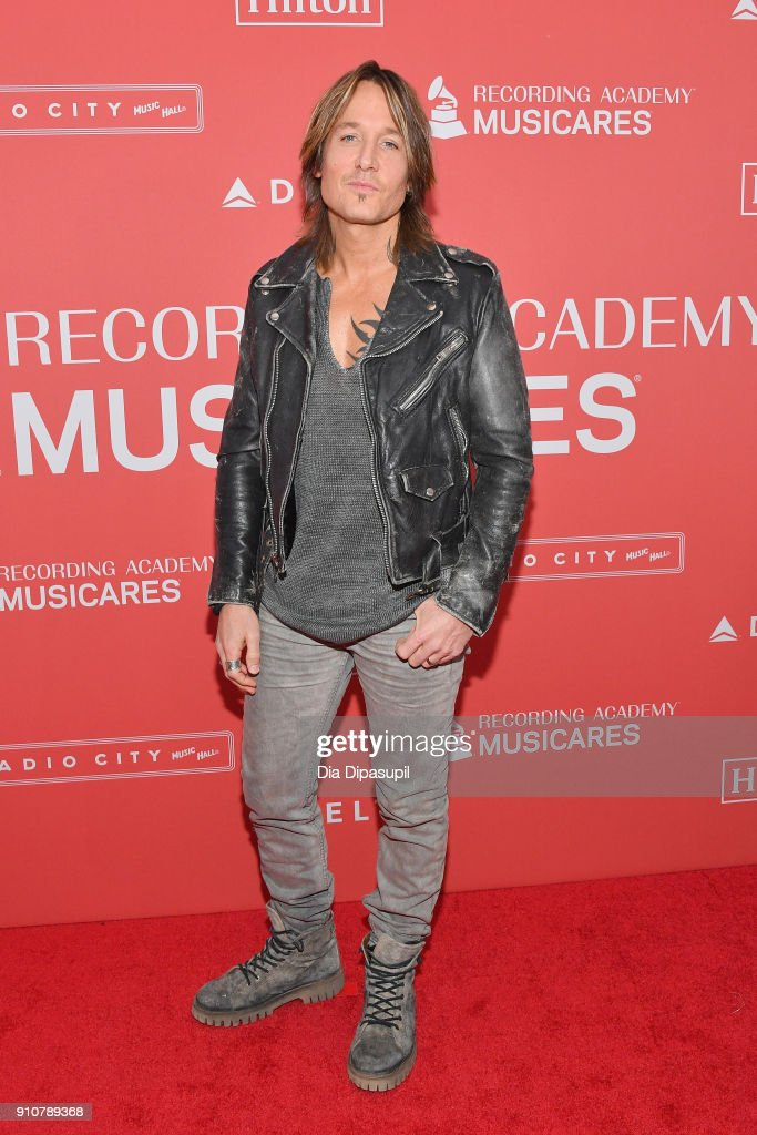 Recording artist Keith Urban attends MusiCares Person of the Year honoring Fleetwood Mac at Radio City Music Hall on January 26, 2018 in New York City.