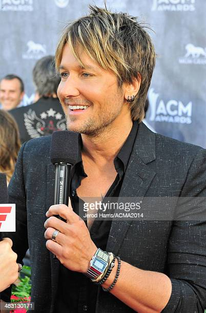 Recording artist Keith Urban attends the 49th Annual Academy of Country Music Awards at the MGM Grand Garden Arena on April 6 2014 in Las Vegas Nevada