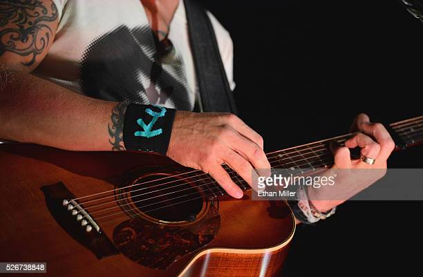 Recording artist Keith Urban guitar detail performs onstage during the 2016 iHeartCountry Festival at The Frank Erwin Center on April 30 2016 in...