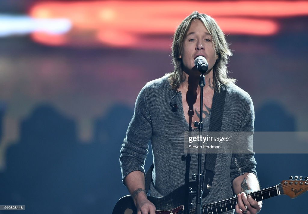 Recording artist Keith Urban performs onstage during MusiCares Person of the Year honoring Fleetwood Mac at Radio City Music Hall on January 26, 2018 in New York City.