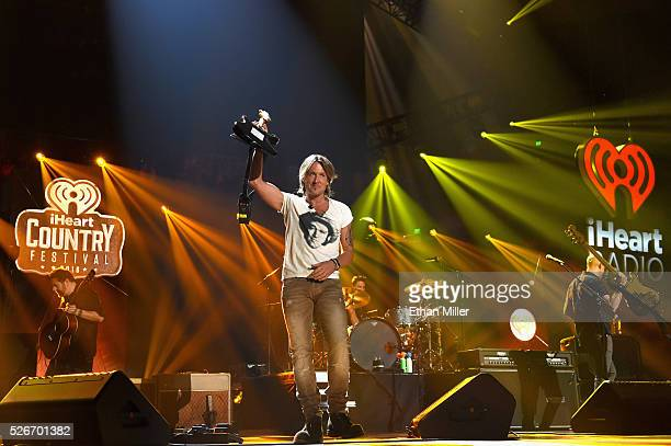 Recording artist Keith Urban performs onstage during the 2016 iHeartCountry Festival at The Frank Erwin Center on April 30 2016 in Austin Texas