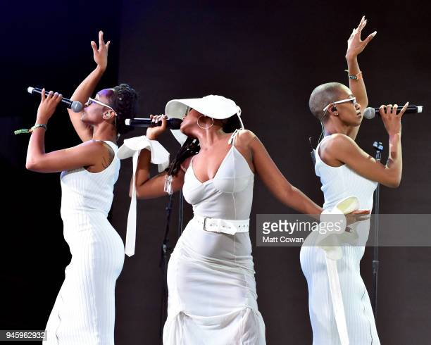 Recording Artist Kelela performs onstage during the 2018 Coachella Valley Music And Arts Festival at the Empire Polo Field on April 13 2018 in Indio...
