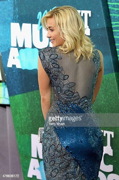 Recording artist Kellie Pickler attends the 2015 CMT Music awards at the Bridgestone Arena on June 10 2015 in Nashville Tennessee