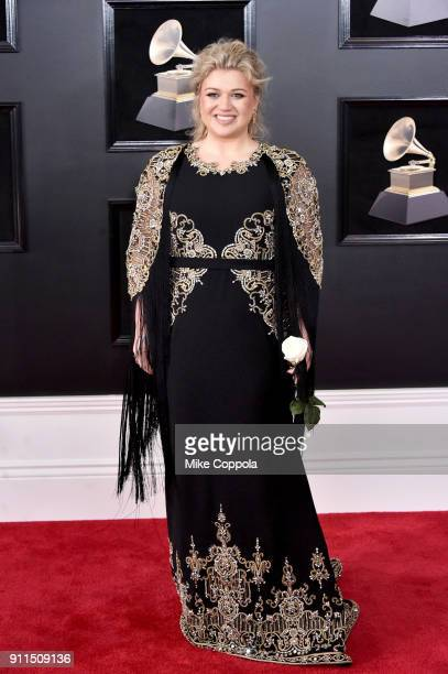 Recording artist Kelly Clarkson attends the 60th Annual GRAMMY Awards at Madison Square Garden on January 28 2018 in New York City