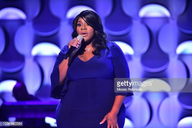 Recording Artist Kelly Price attends BET her fights Breast Cancer at Riverside Epicenter on September 20 2018 in Atlanta Georgia
