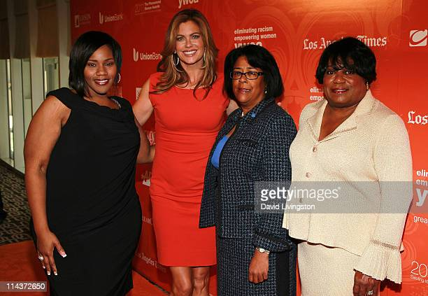 Recording artist Kelly Price entrepreneur Kathy Ireland Los Angeles City Council member Jan Perry and YWCA Greater Los Angeles CEO Faye Washington...