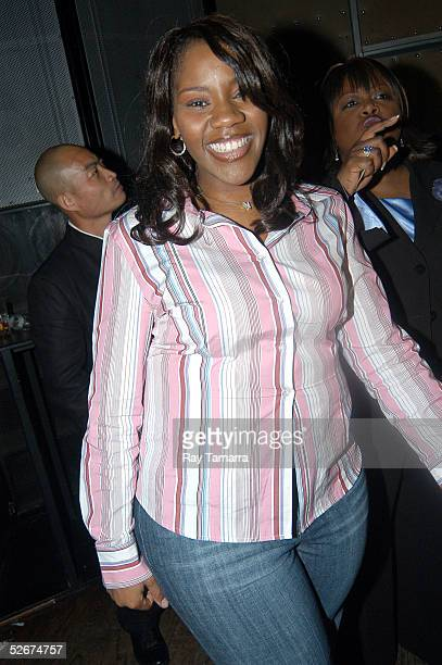 Recording artist Kelly Price poses for photos at Sister 2 Sister's Sweet 16th Gala at Crobar April 20 2005 in New York City