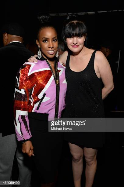 Recording artist Kelly Rowland and actress Pauley Perrette attend The GRAMMY Nominations Concert Live Countdown to Music's Biggest Night at Nokia...