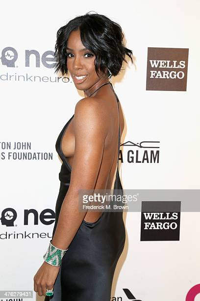 Recording artist Kelly Rowland attends the 22nd Annual Elton John AIDS Foundation's Oscar Viewing Party on March 2 2014 in Los Angeles California