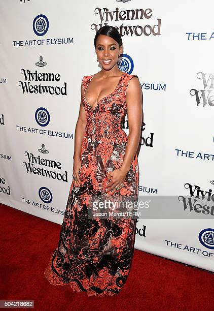 Recording artist Kelly Rowland attends The Art of Elysium 2016 HEAVEN Gala presented by Vivienne Westwood Andreas Kronthaler at 3LABS on January 9...