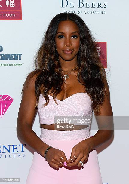 Recording artist Kelly Rowland attends the Diamond Empowerment Fund presents Diamonds in the Sky at the Four Seasons Hotel Las Vegas on May 28 2015...