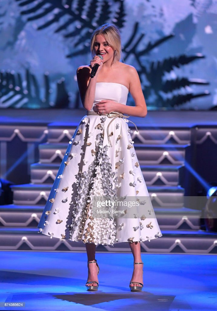 Recording artist Kelsea Ballerini performs during CMA 2017 Country Christmas at The Grand Ole Opry on November 14, 2017 in Nashville, Tennessee.