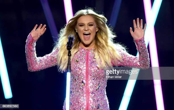 Recording artist Kelsea Ballerini performs onstage during the 52nd Academy of Country Music Awards at TMobile Arena on April 2 2017 in Las Vegas...