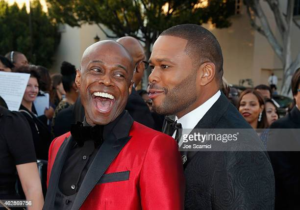 Recording artist Kem and actor Anthony Anderson attend the 46th NAACP Image Awards presented by TV One at Pasadena Civic Auditorium on February 6...