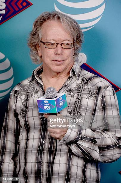 Recording artist Ken Spider Sinnaeve of music group Loverboy speaks backstage during the first ever iHeart80s Party at The Forum on February 20 2016...