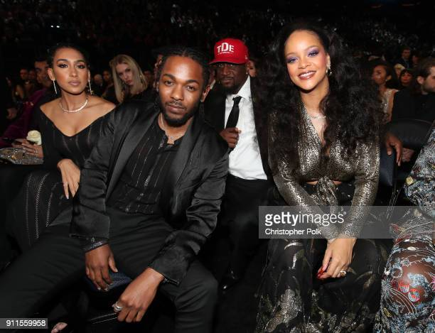 Recording artist Kendrick Lamar and Rihanna attends the 60th Annual GRAMMY Awards at Madison Square Garden on January 28 2018 in New York City