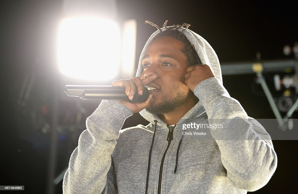 Reebok And Kendrick Lamar Take Over The Streets Of Hollywood With #GETPUMPED, Fusing Fitness And Music With A Ground-Breaking Live Event : News Photo
