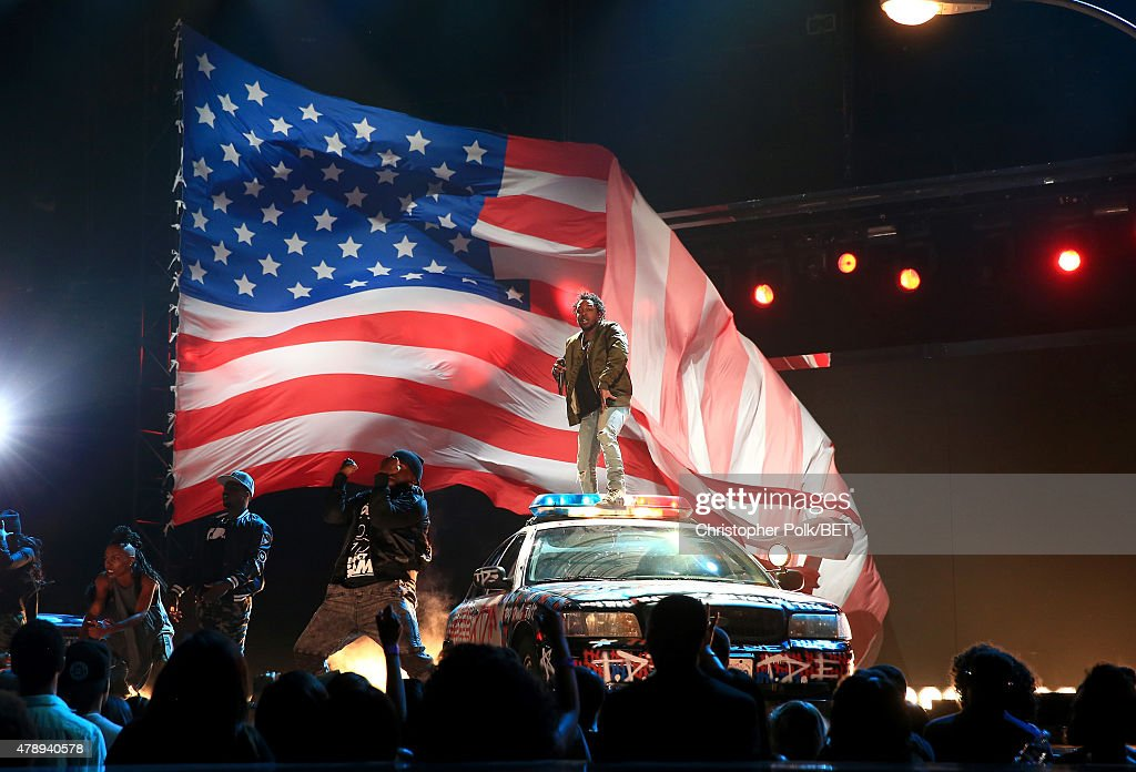 Recording artist Kendrick Lamar performs onstage during the 2015 BET Awards at the Microsoft Theater on June 28, 2015 in Los Angeles, California.